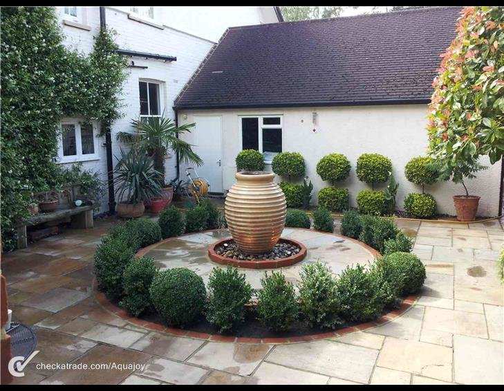large stone water feature